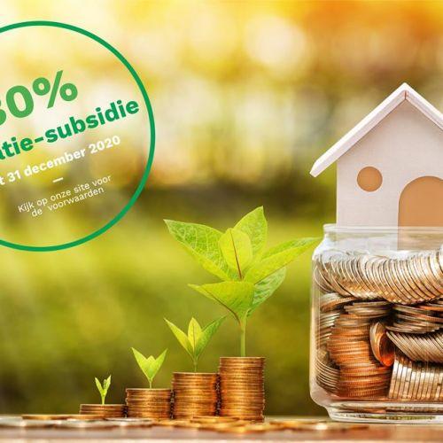 Tijdelijke verhoging subsidie