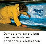 Aanbrengen horizontale isolatie elementen dampdicht